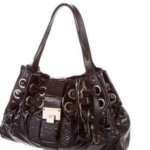 JIMMY CHOO Ramona patent leather shoulder bag